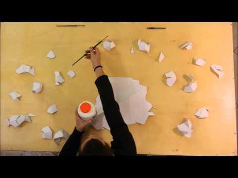 Paper Voronoi Sculpture DIY
