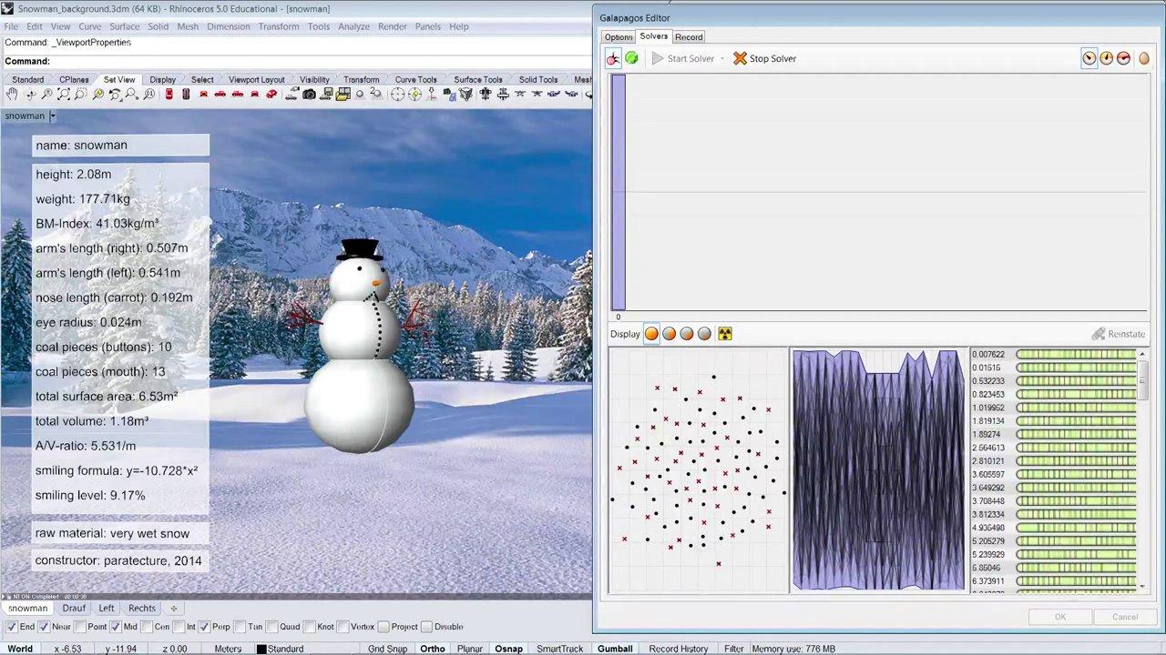 Parametric Snowman