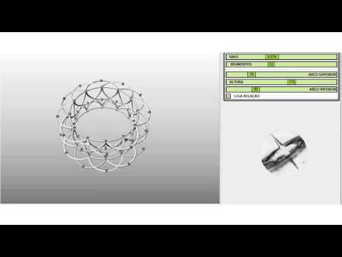Parametric three-dimensional Mandala - Grasshopper