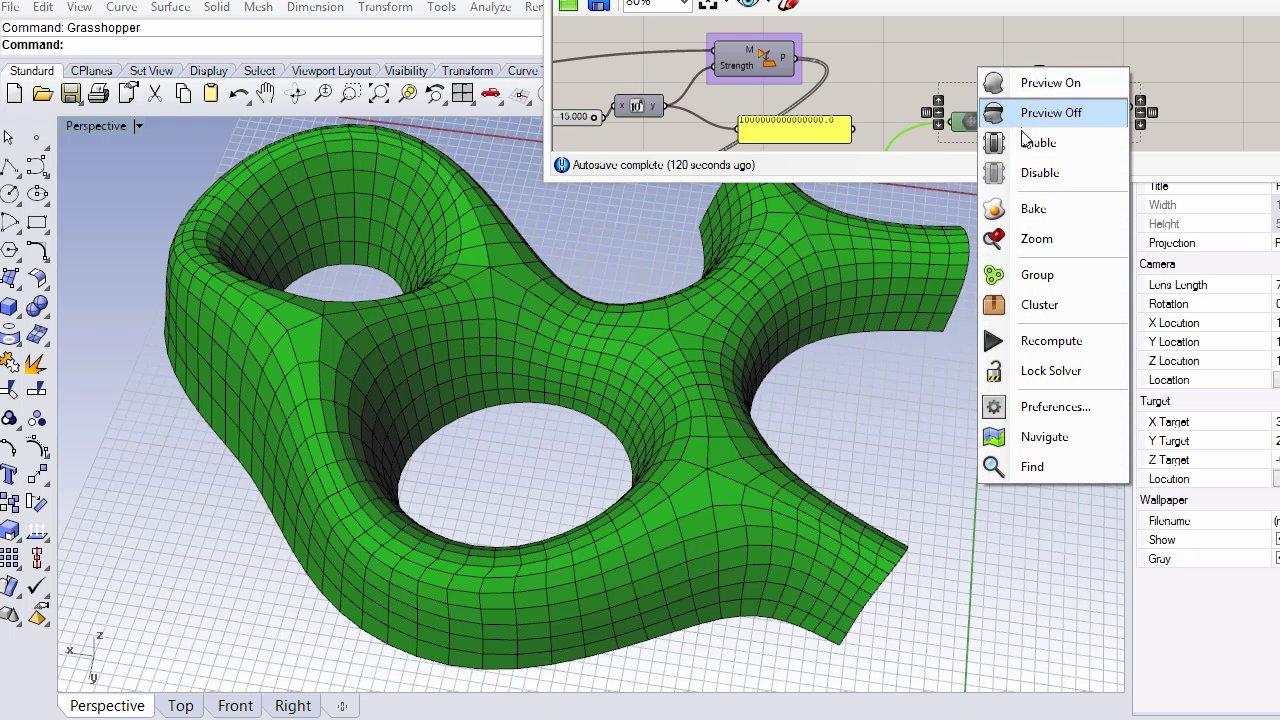 Kangaroo2 - Planar quad mesh editing