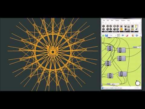 Audio Reactive Mandala Generator ( grasshopper + firefly)