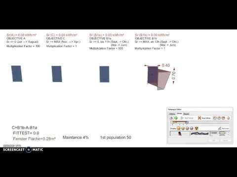 Evolutionärer Algorithmus in Optimierung von Fassaden