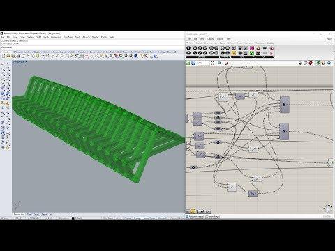 Grasshopper tutorial (ua), | Інтерактивна лавка, Частина 002 - Загальна побудова