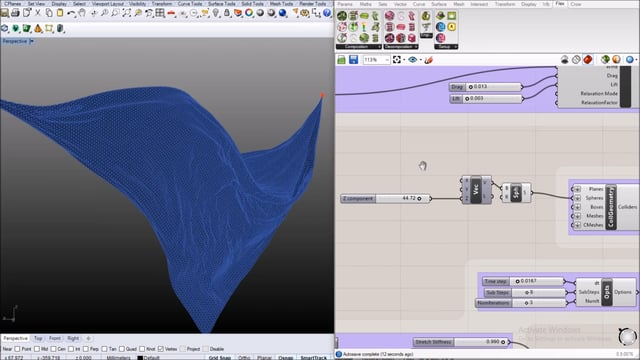 FlexHopper Intro & Tutorial 1: Cloth Simulation, Collision Objects, Wind, Solver Tuning