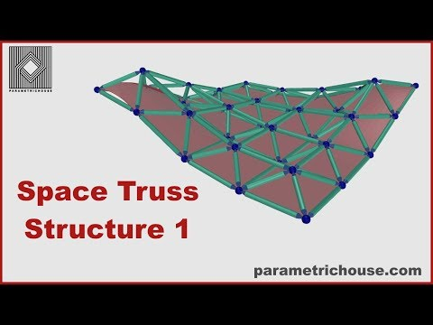 Grasshopper tutorial :  Lunchbox - Space Truss Structure 1
