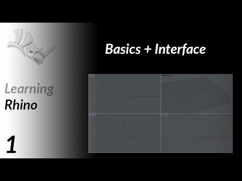 Learning Rhino #1: Basics + Interface