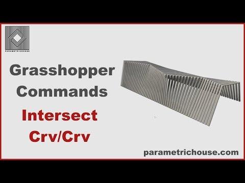 Grasshopper tutorial : Commands - Intersect Crv/Crv