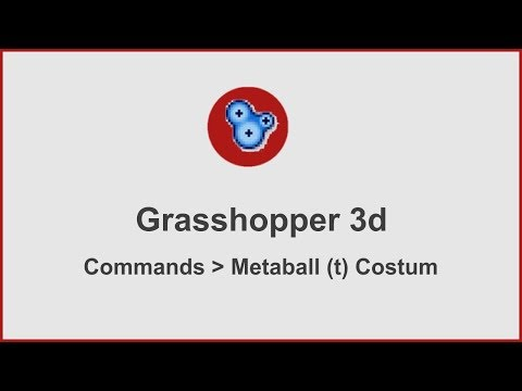 Grasshopper Commands - Metaball(t) custom