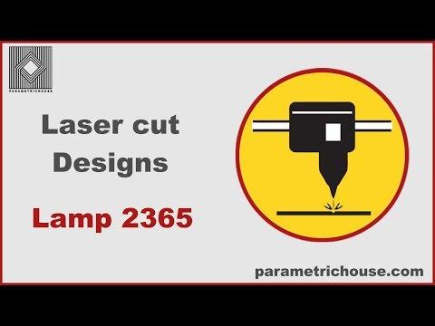 Laser cut designs - Parametric Lamp 2365