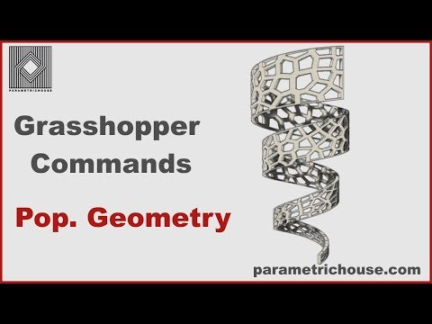 Grasshopper tutorial : Commands - Populate Geo.