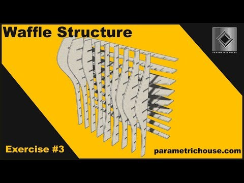 Grasshopper tutorial :  Waffle structure