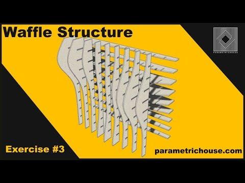 Grasshopper tutorial :  Waffle structure