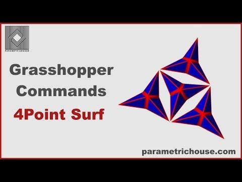 Grasshopper tutorial : Commands - 4Point Srf