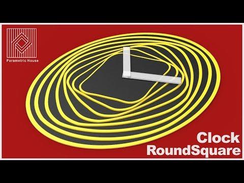 Wooden clock tutorial : RoundSquare