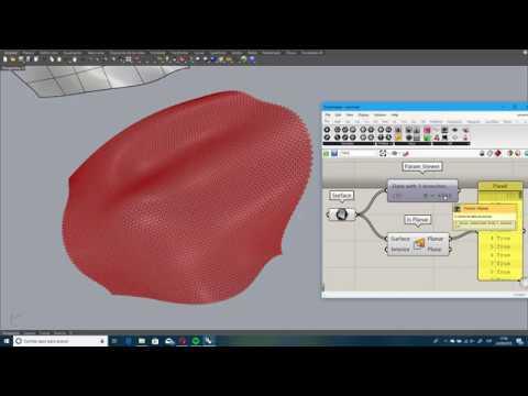 Rhino panelización de superficie de doble curvatura