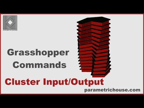 Grasshopper tutorial : Commands - Cluster input/output