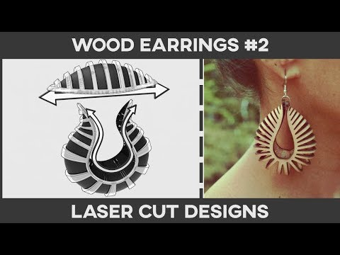 Laser Cut Designs (Wood Earring #2)