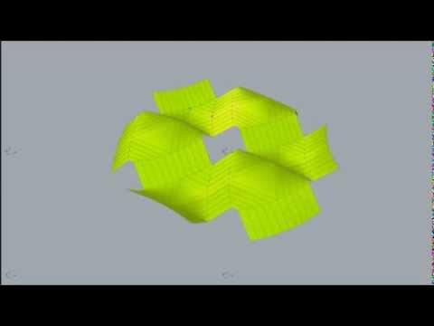 curved folding simulation