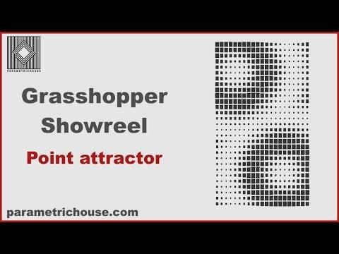 Grasshopper Showreel : Point Attractor