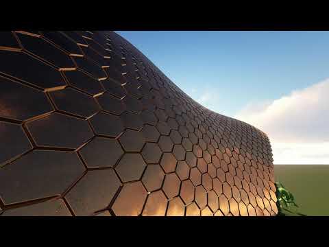 panelización hexagonal