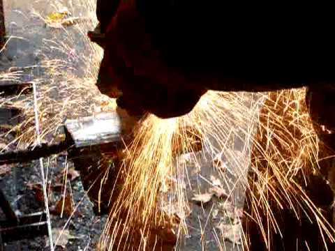 Forging Meteorite Damascus   HHH Knives