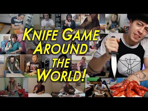 The Knife Game Song AROUND THE WORLD!