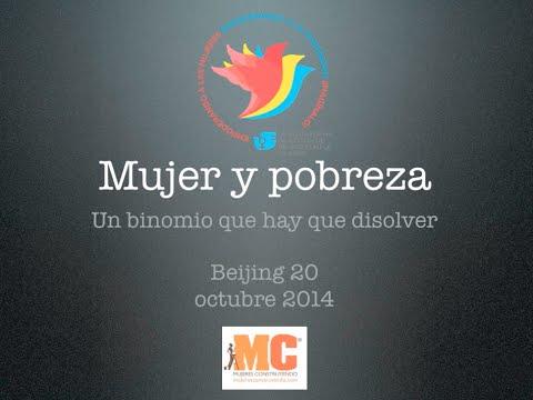 Usemos las TIC para combatir la pobreza femenina. Beijing20