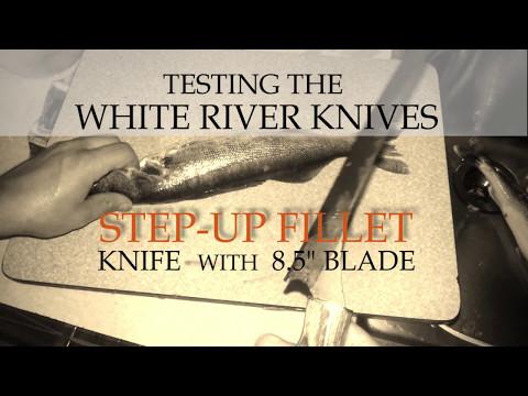 Step Up Fillet Knife Testing White River Knives - Fishing Knife