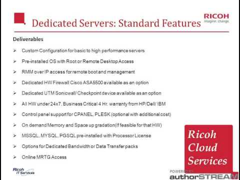 Ricoh - Data Center Services