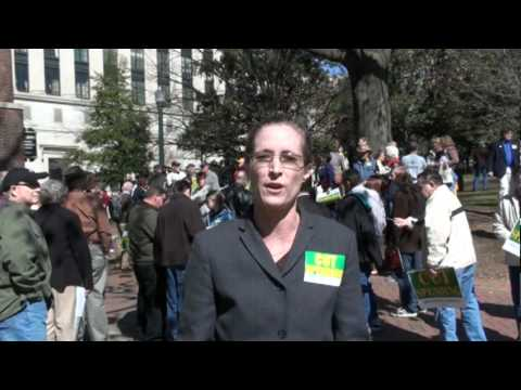 Lisa Miller Tea Party WDC at No Virginia Tax Increase Rally, Americans for Prosperity March 8th 2010