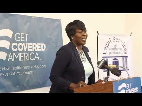 Consumer Patricia Edwards speaks at 2/27/14 health insurance marketplace press conference