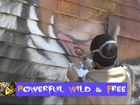 PowerfulWildFree Mural Project at WPAATV - Tiger Nose Timelapse