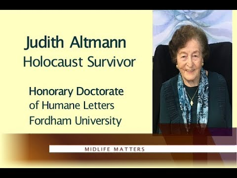 Judith Altman, Holocaust Survivor with Georgian Lussier WPAA-TV