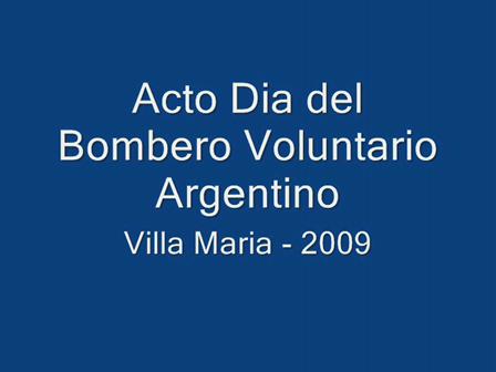 Acto Dia del Bombero 2009