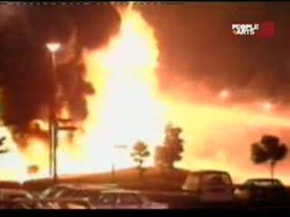 rescate de una niña en voráz incendio
