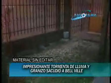 10-10-09 / Córdoba / tormenta de piedra y granizo / Televisión de Bell Ville -