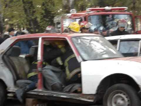 Bomberos de San Martin / 07 de julio de 2009 / Ejercicio de Rescate Vehicular