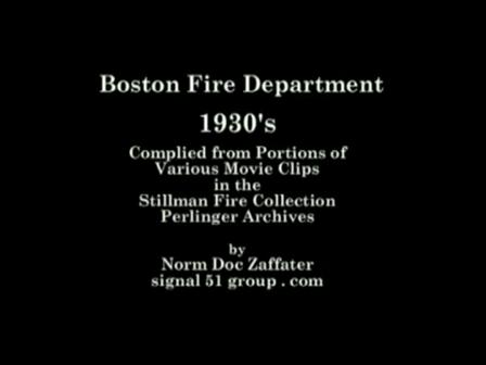 Departamento de Incendios de Boston / 1930