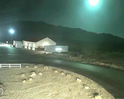 Noviembre de 2009 / Un meteorito del tamaño de un horno ilumino brevemente el cielo de Utah, Estados Unidos