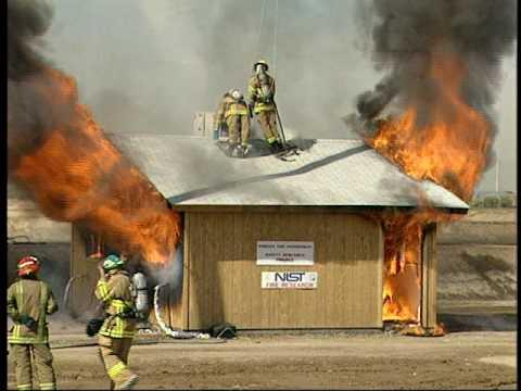 Pruebas de resistencia al fuego de diversos materiales de construccion realizada por  NIST