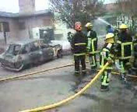 Explosión e incendio en Alta Gracia