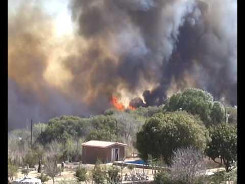 Incendio en Los Cocos y La Cumbre Agosto 2009