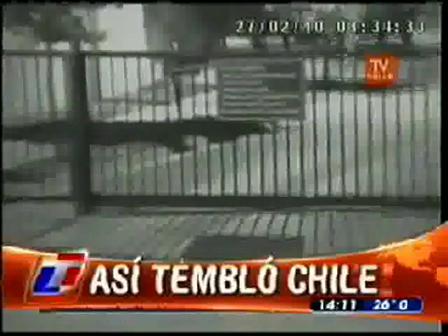 """Camaras de Seguridad registraron el sismo / """"Asi Temblo Chile"""""""