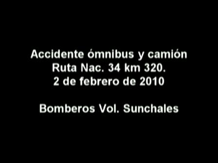 Abordo / Accidente colectivo y camión en Ruta 34 / Bomberos de Sunchales, Argentina / Video Destaca…