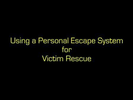 Usar el sistema de escape personal con una victima o utiizarlo uno mismo