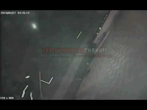 TERREMOTO CHILE EN UN CARRO DE BOMBEROS
