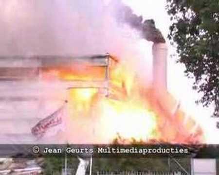 Explosión en  la central  biomas Sittard