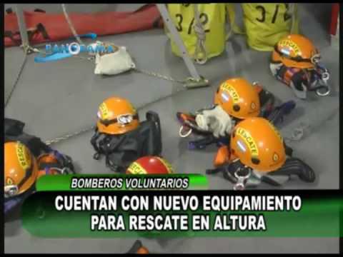 ARGENTINA : Bomberos nuevos equipos para rescate en altura