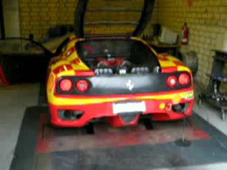 YouTube- Ferrari F-360 does a dyno all gears