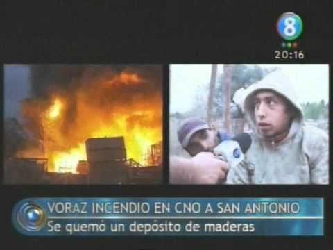 ARGENTINA: Un incendio devastador elimino una maderera en el camino a San Antonio
